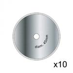 Lame circulaire Textile Keencut - Pack de 10 lames