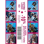 DNP - Consommable thermique pour DS620 (Premium Digital) - 15x20cm - 460 tirages - perforé pour 3x 5x20cm (spécial événementiel)