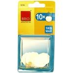Brio lot de 10 attaches gommées 30 mm