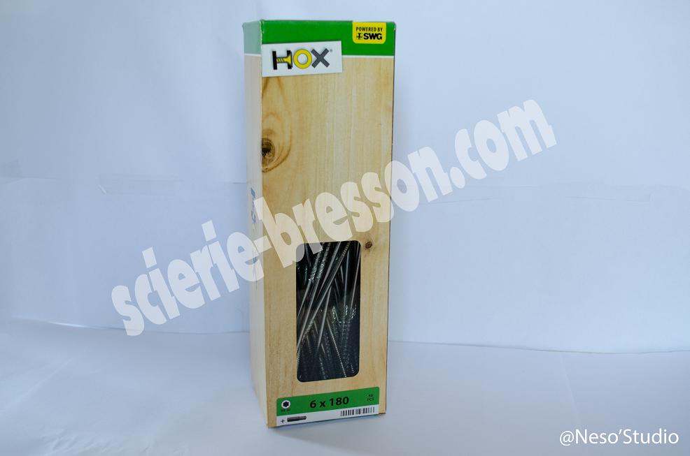 VIS HOX  6 X 180 mm H30 - BOITE DE 50