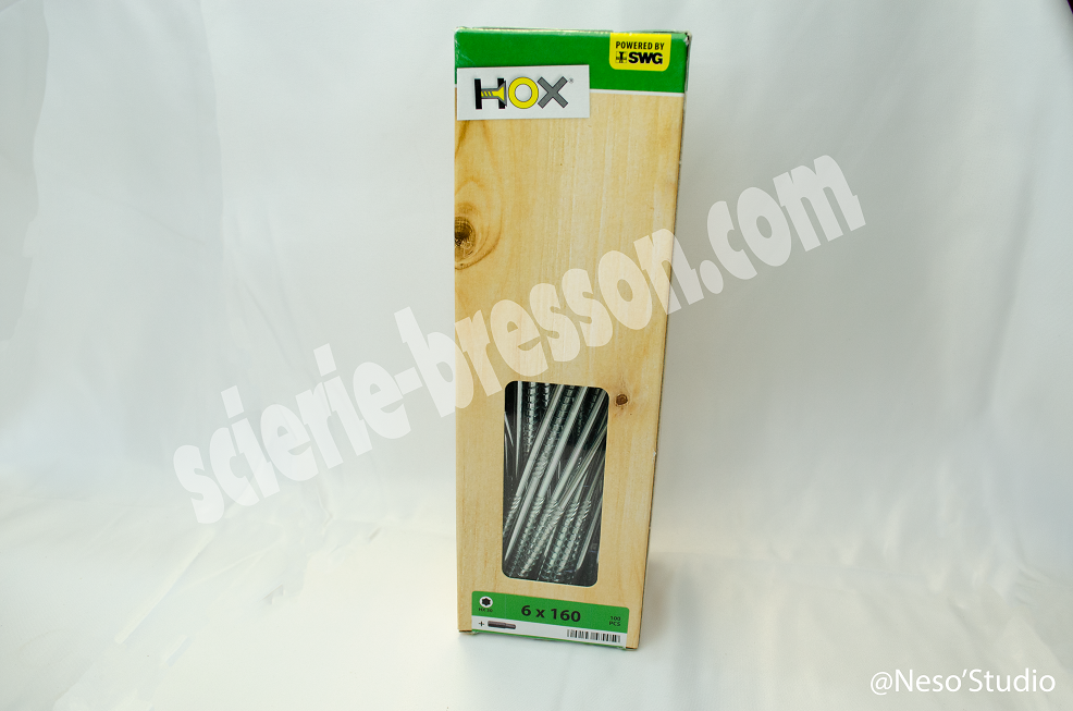 VIS HOX- 6 X 160 H30 - BOITE DE 100