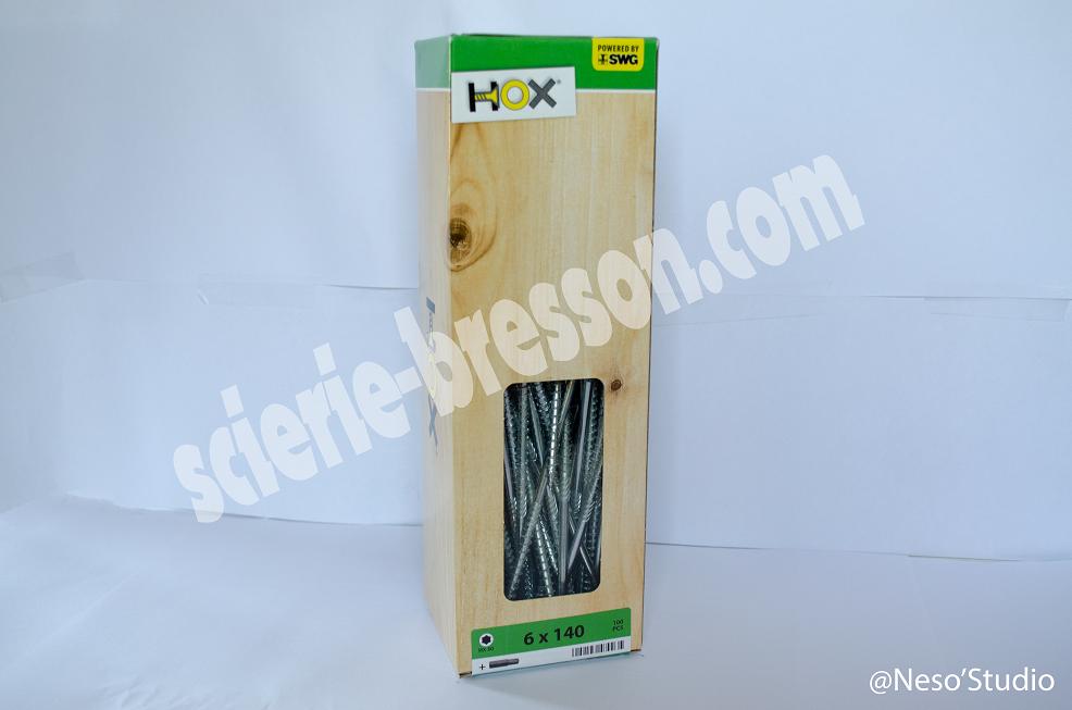 VIS HOX - 6 X 140 H30 - BOITE DE 100