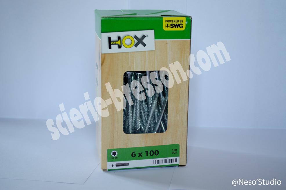 VIS HOX - 6 X 100 H30 - BOITE DE 100