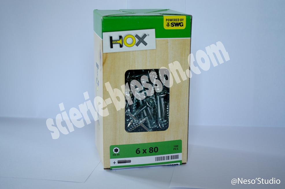 VIS HOX - 6 X 80 H30 - BOITE DE 100
