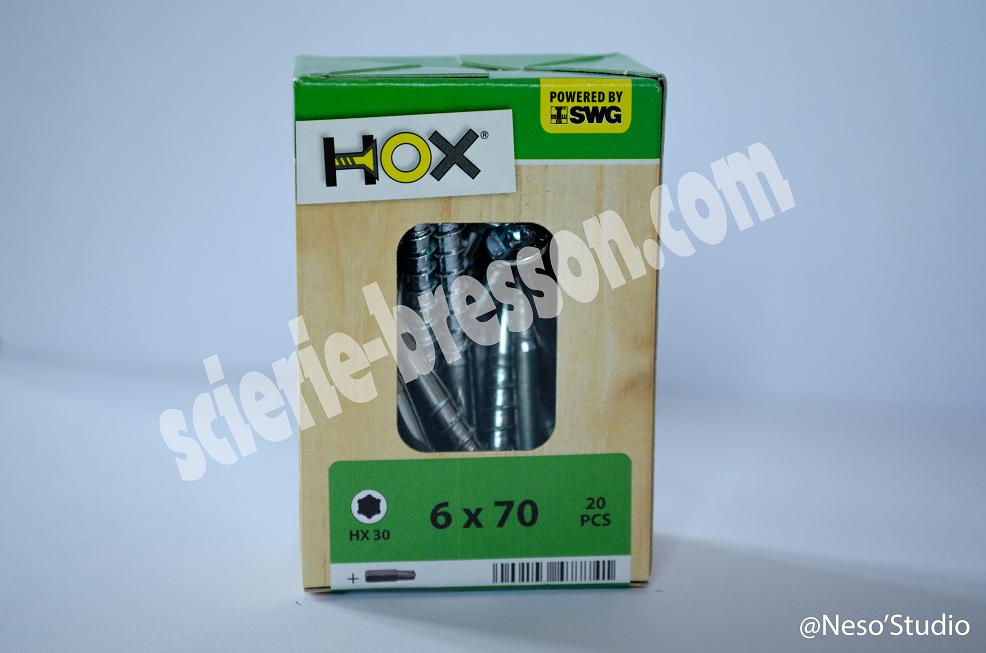 VIS HOX - 6 X 70 H30 - BOITE DE 20