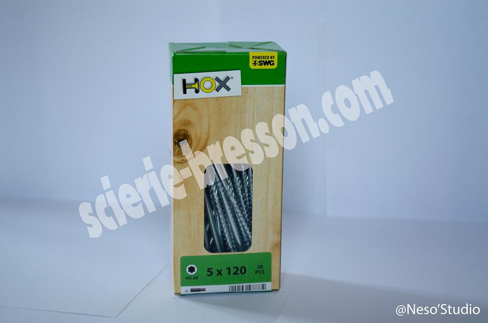 VIS HOX - 5 X 120 H20 - BOITE DE 20