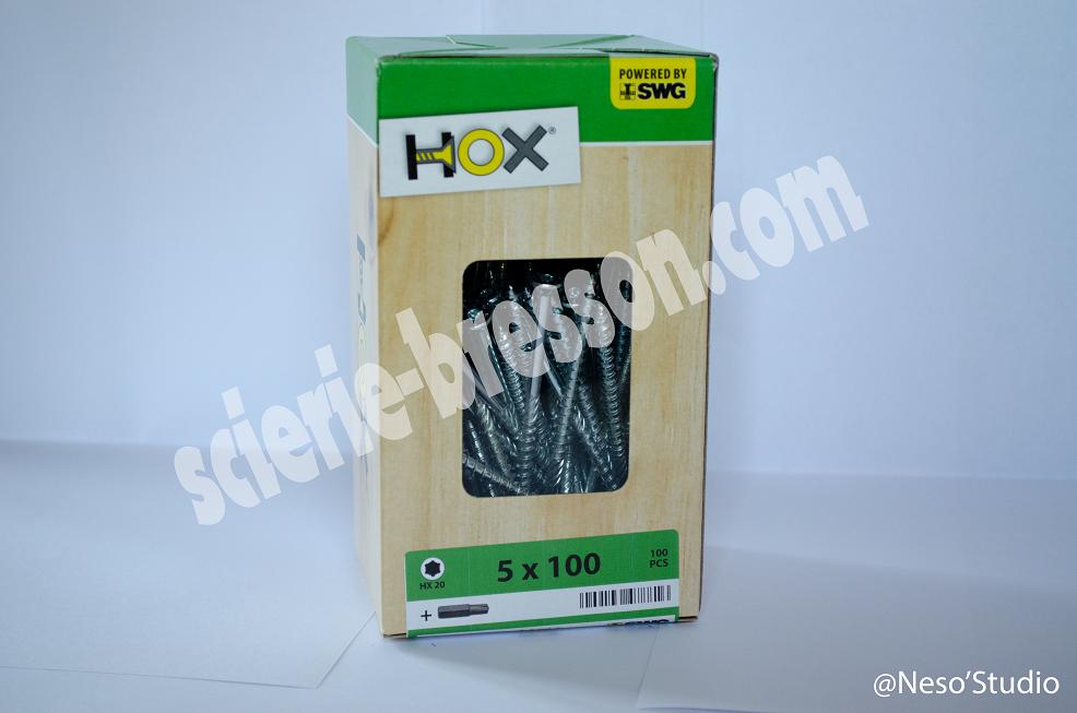 VIS HOX - 5 X 100 H20 - BOITE DE 100