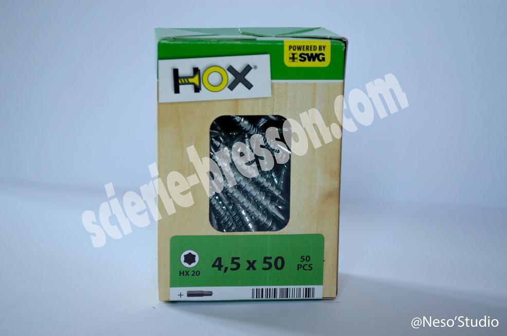 VIS HOX - 4,5 X 50 H20 - BOITE DE 50