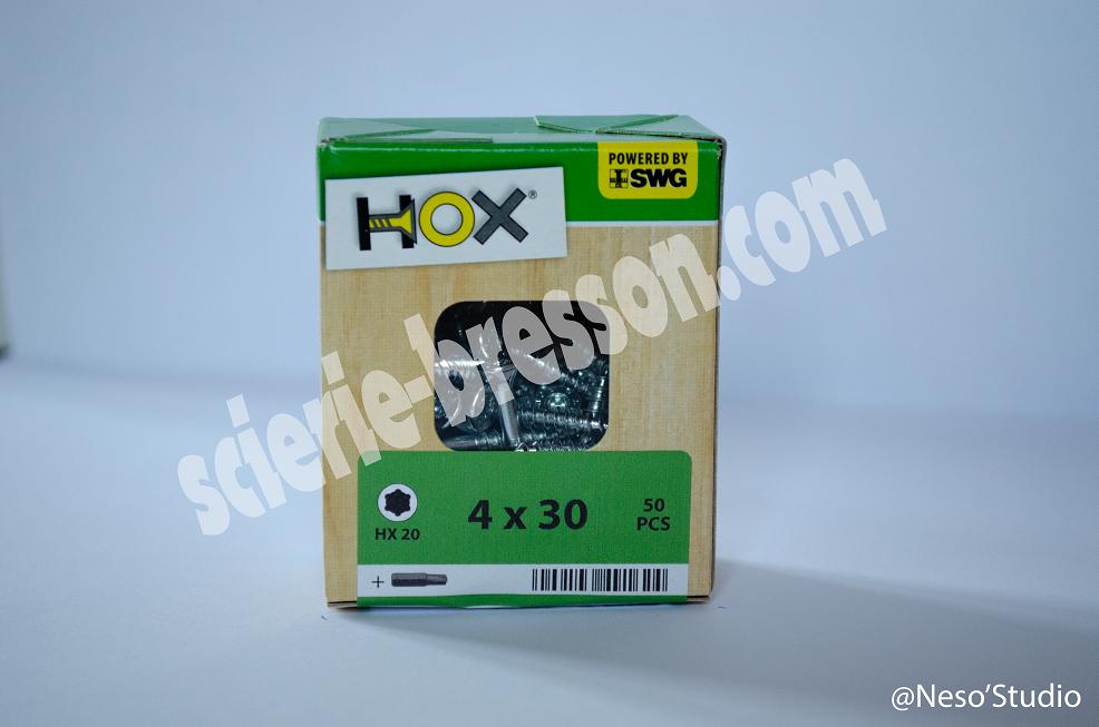 VIS HOX - 4 X 30 H20 - BOITE DE 50