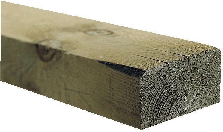 Traverses paysagère en pin classe 4 à l\'unité 120 x 200 mm long 2 m