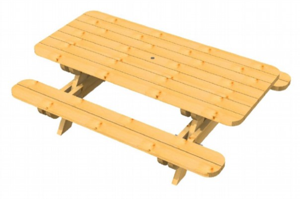 TABLE 2.40 m ROBUSTE EN DOUGLAS RECTANGULAIRE EN KIT