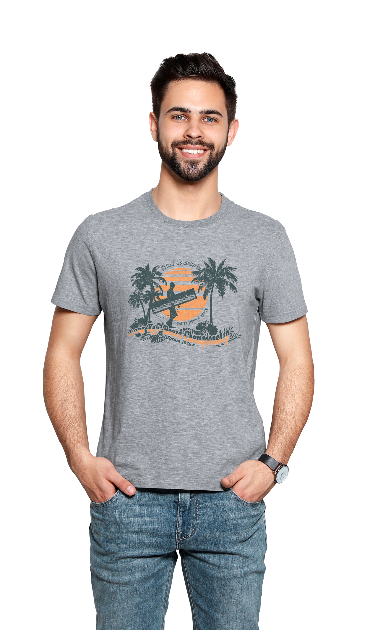 TEE-SHIRT SURFER PIANO HOMME