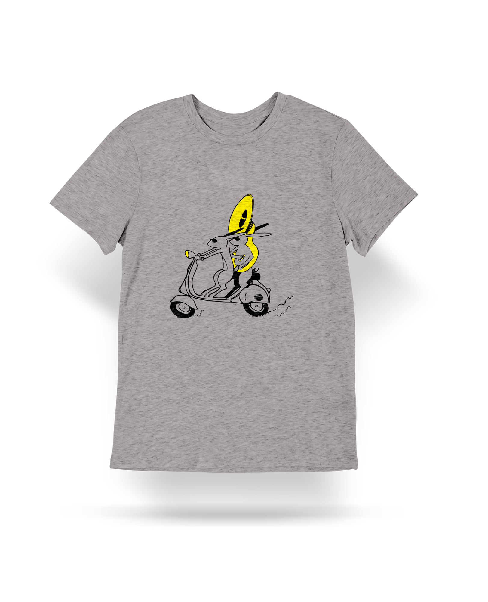 TEE-SHIRT LAPIN SCOOTER ENFANT