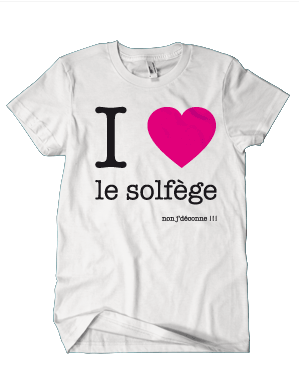 I LOVE LE SOLFÈGE NON J\'DÉCONNE