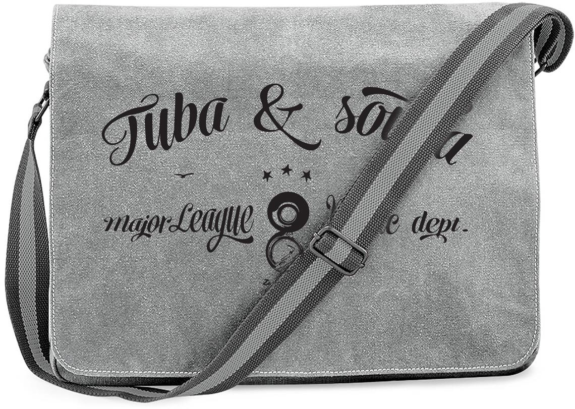 SAC TUBA & SOUBA, GRIS FERMETURE SCRATCH