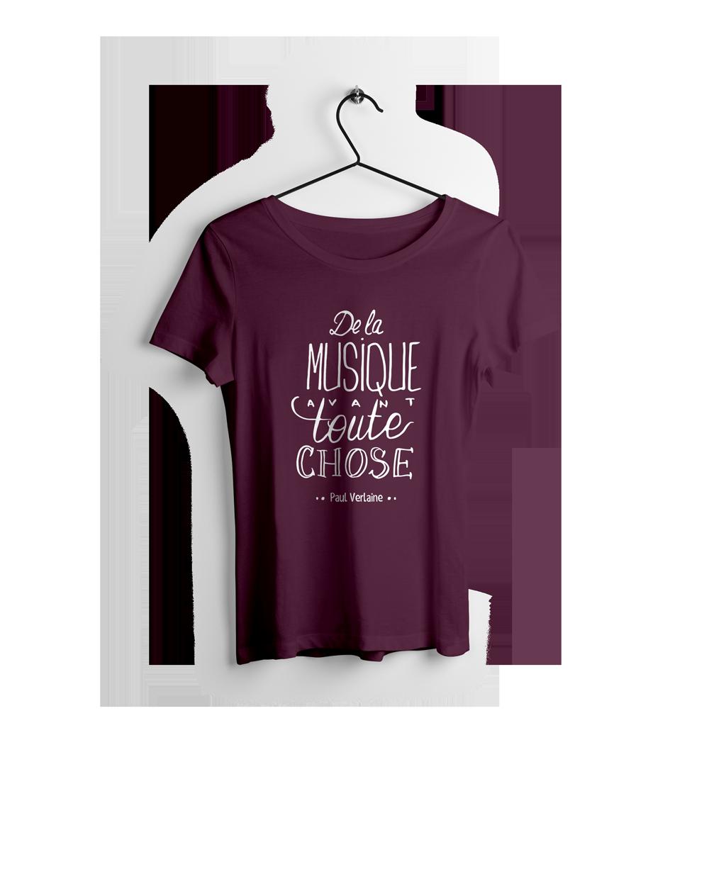 TEE-SHIRT FEMME MUSIQUE VERLAINE