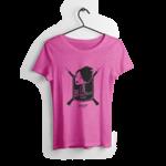 Tshirt-cintre-fille-fuchsia