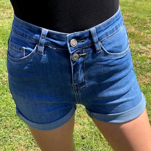 short taille haute jean's