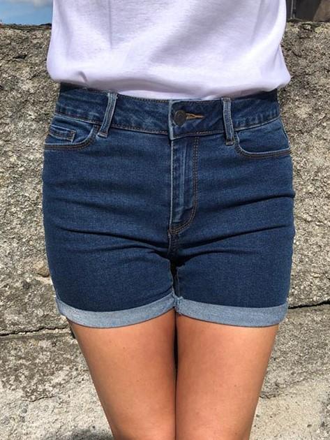 Short Taille Mi-Haute Jean\'s Brut