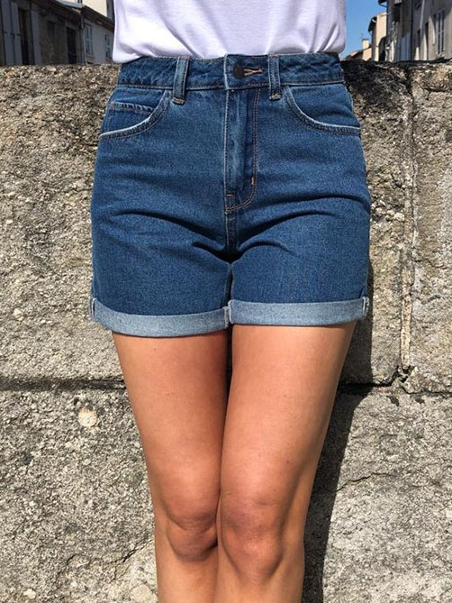 Short Jean\'s Taille Haute  Stone used