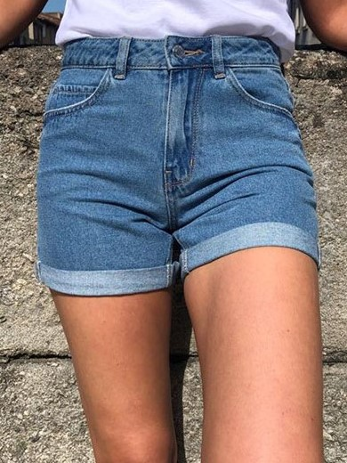 Short Jean\'s Taille Haute Double Stone used