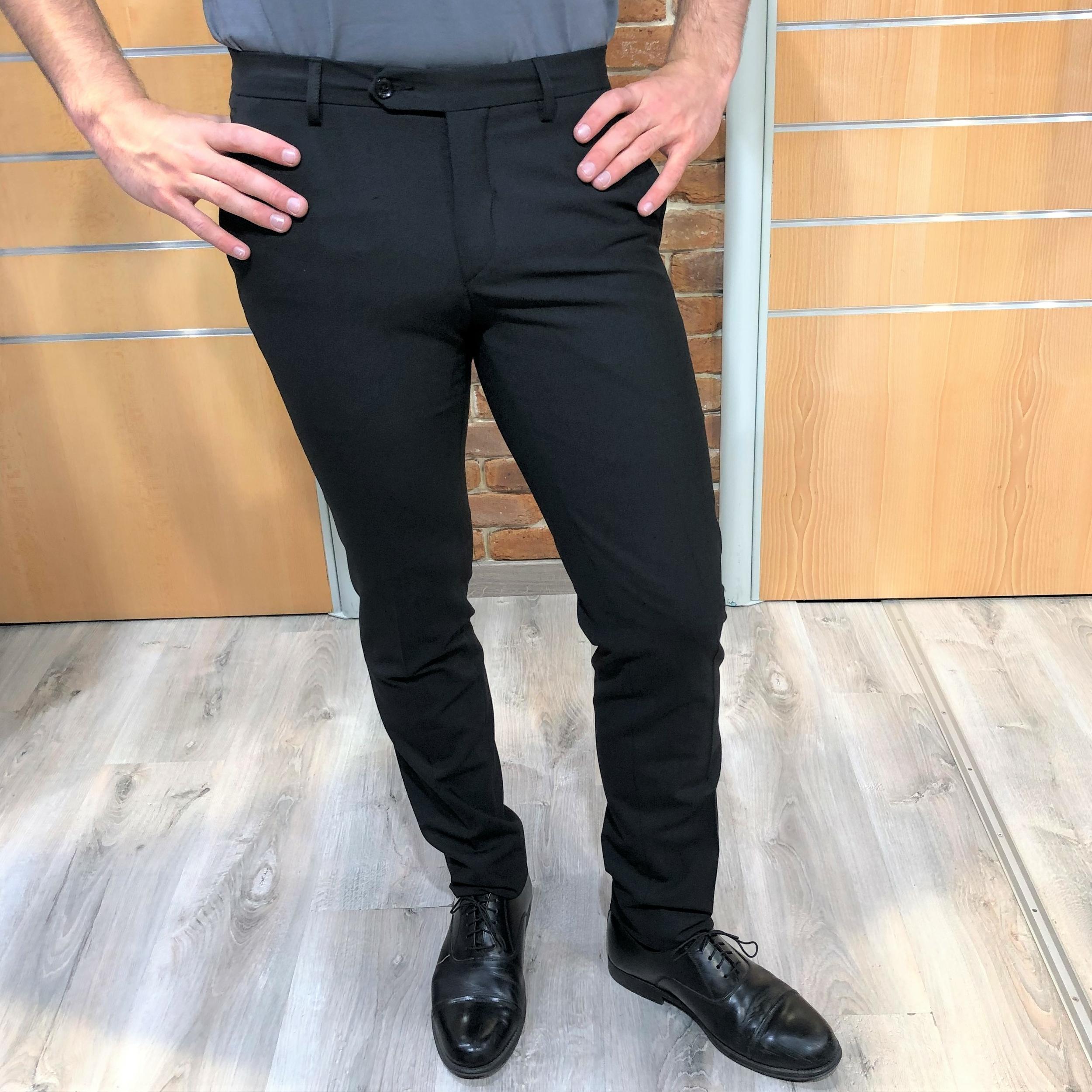 pantalon de ville noir homme