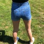 short jeans taille haute femme