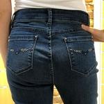 pantalon en jean bleu marine