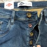 jeans straight homme bleu à poche