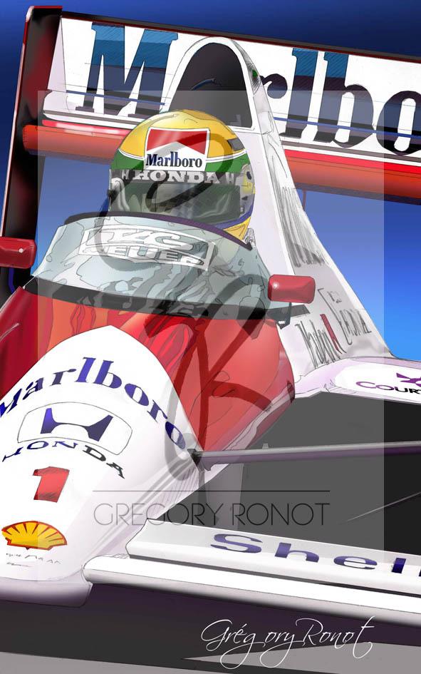 Série Drapeau à damier, Ayrton Senna