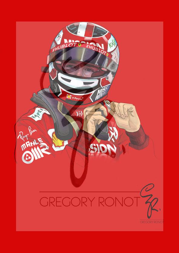 Série Formule 1, Charles Leclerc (Portrait seul)