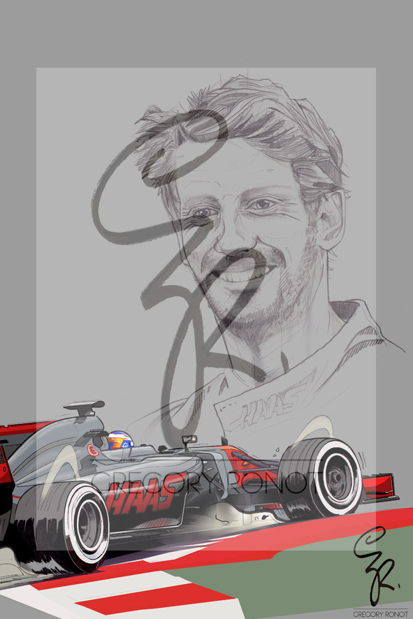 Série Formule 1, Romain Grosjean, Haas F1 Team