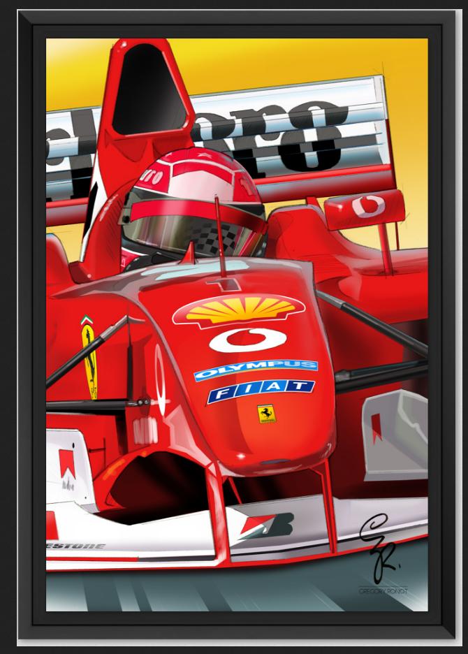 Schumacher sur AluDibond