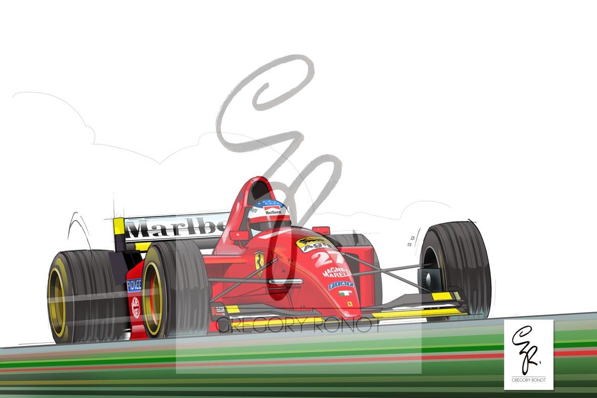 Jean Alesi, Ferrari 412 T2, 1995