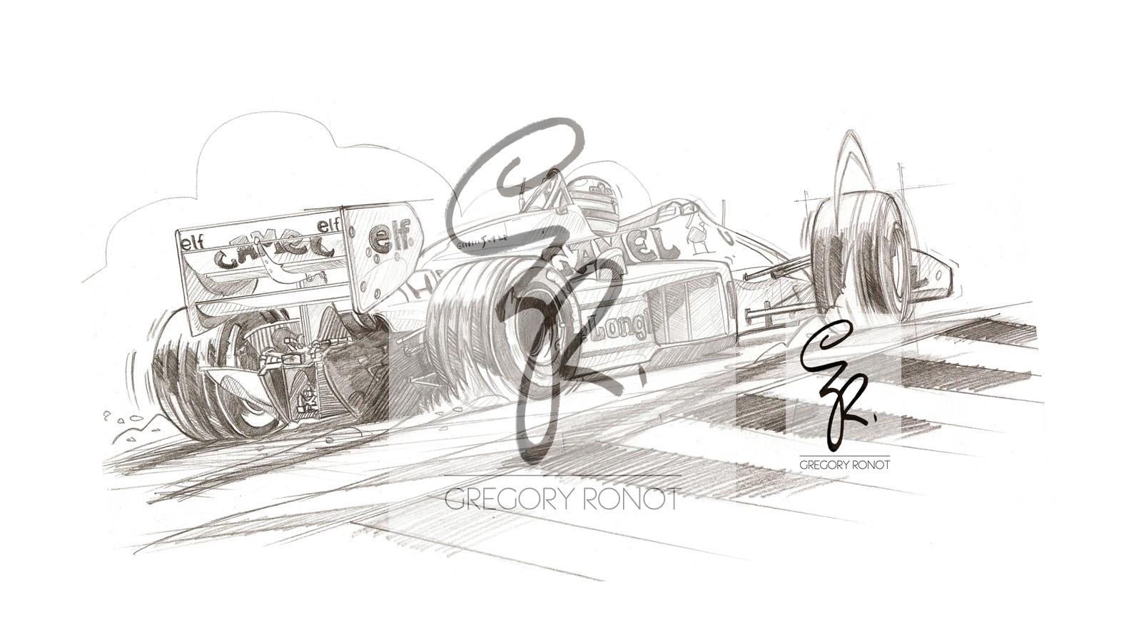 Ayrton Senna, Lotus 99T, crayonné