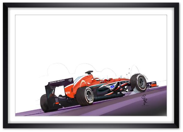Jules Bianchi, Marussia MR03, encadré