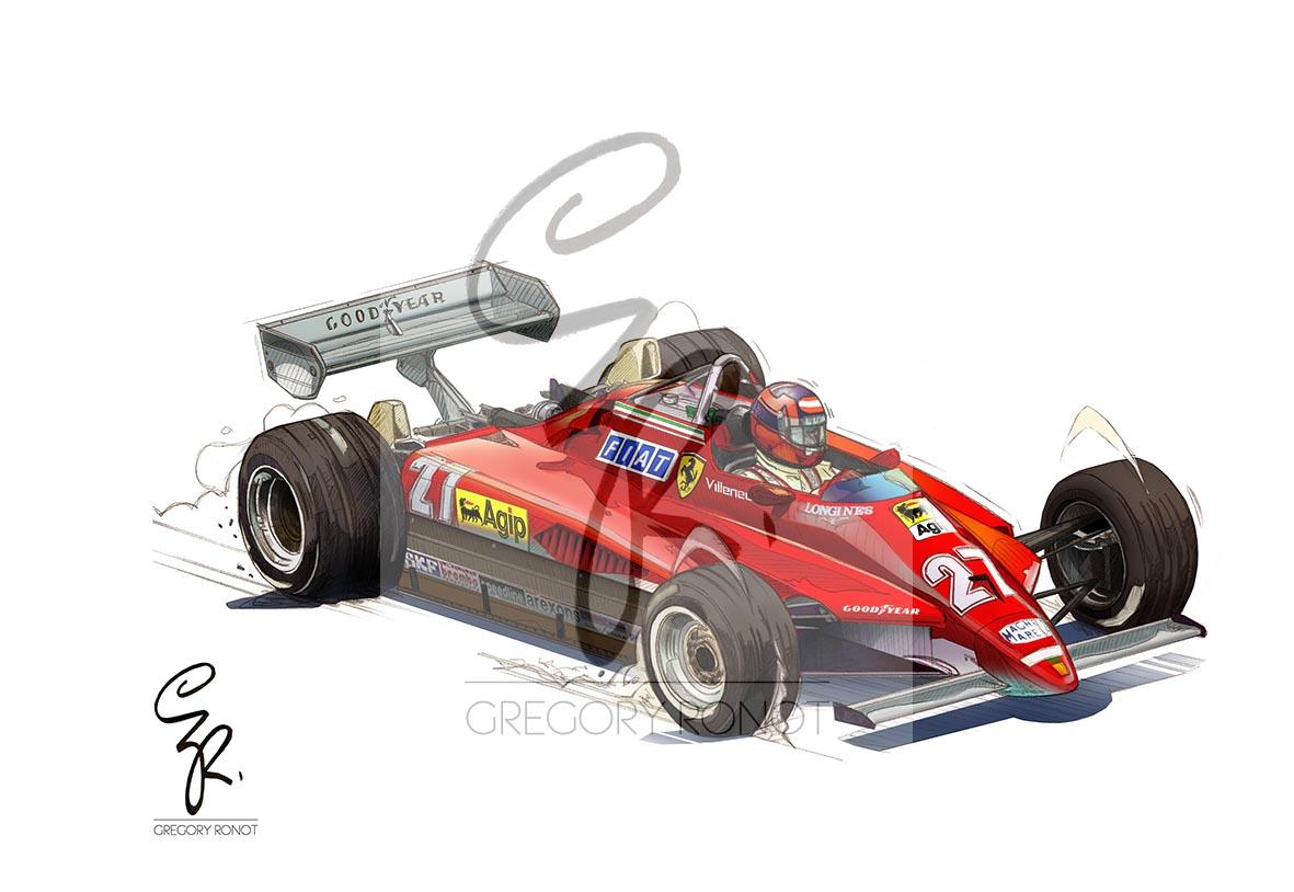 Gilles Villeneuve, Ferrari 126 C2