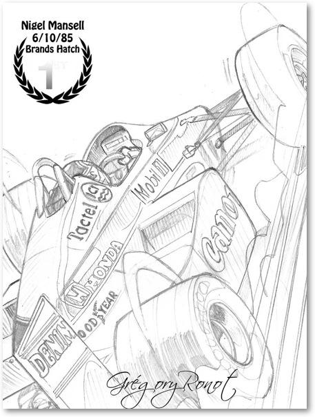 Nigel Mansell (version crayonnée)