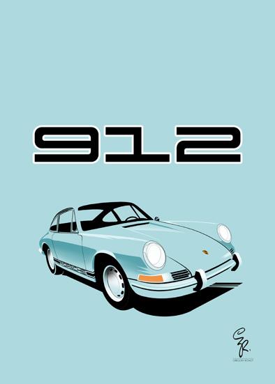 Porsche 912 AluDibond
