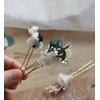 fleurs chignon mariée