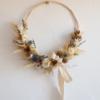demi-couronne de fleurs séchées beu chipie choc création