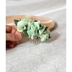 fleurs coiffure mariée