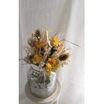 bouquet fleurs séchées jaunes