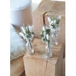 ensemble fleurs séchées table