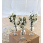 décoration table fleurs séchées