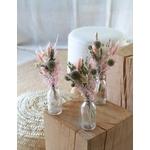 trio de petits bouquets fleurs séchées