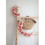 fleurs séchées rose girly