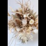 bouquet sec naturel et blanc