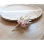 boutonnière fleurs séchées rose