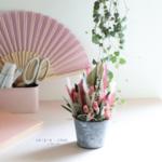 pot fleuri - fleurs séchées - chipie choc création